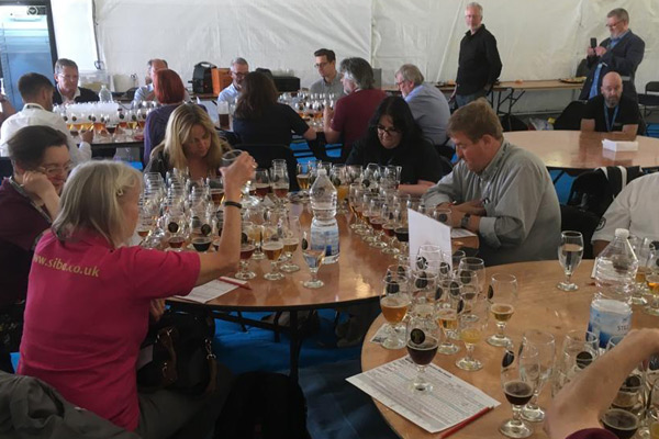 Judging Tables at SIBA Midlands Independent Beer Awards