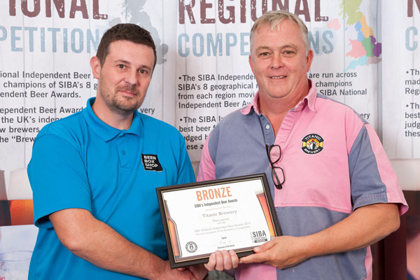 Bronze Award presented to Titanic Brewery