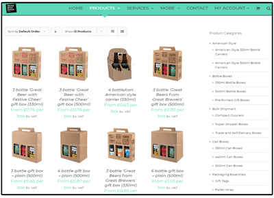 Beer Box Shop launched their first website in 2015