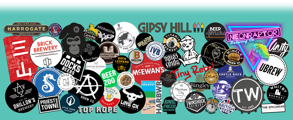 A selection of some of the breweries who have used Beer Box Shop