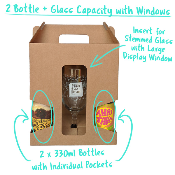 2 Bottle + Glass Capacity with individual Bottle compartments
