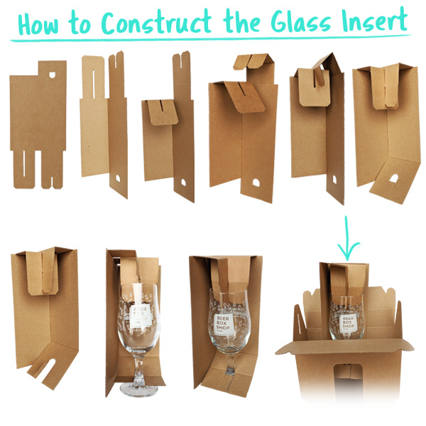 Free of Charge glass insert included with every gift box