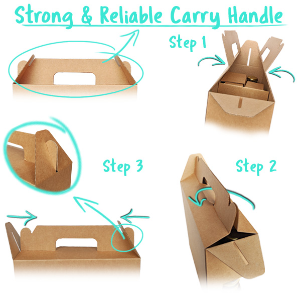 Strong, reliable Gift Box Carry Handle