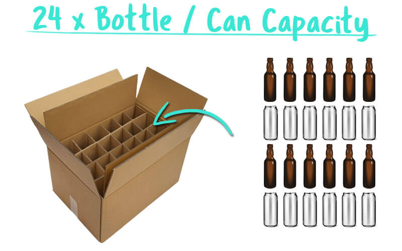 24 x Bottle / Can Super Shipper Capacity