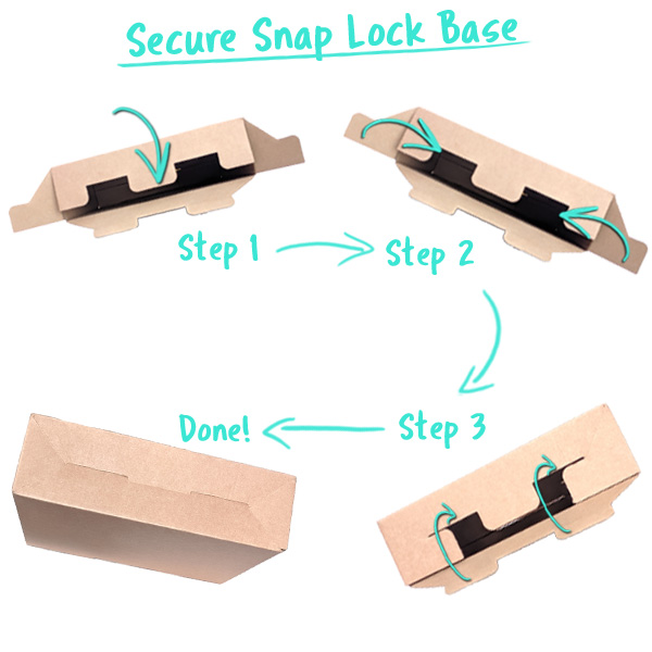 Secure Snap Lock Gift Box Base