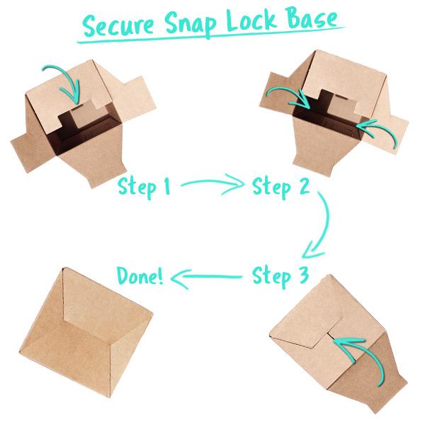 Secure Snap Lock Gift Box Base