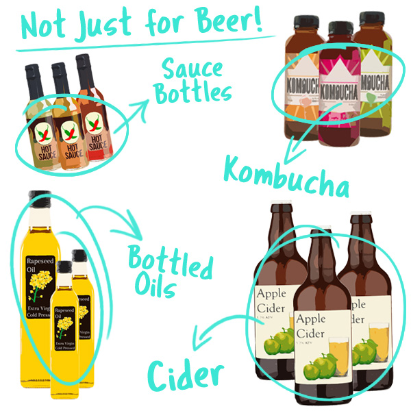 Our boxes are also suitable for Cider, Kombucha, Oils and Sauces