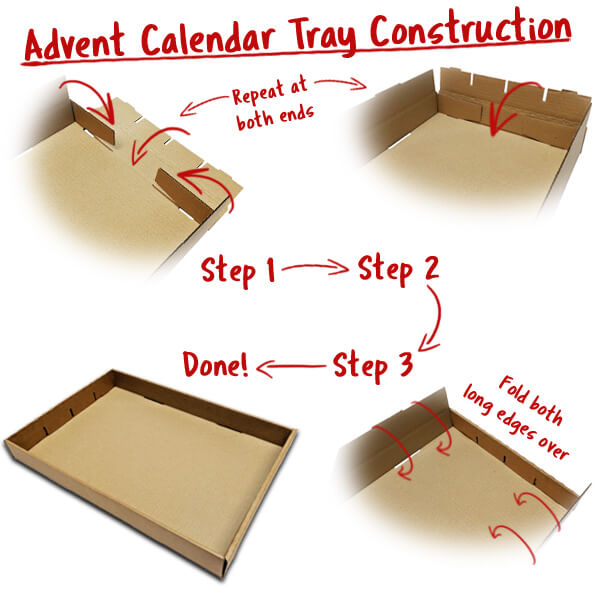 Constructing the pre assembled advent dividers