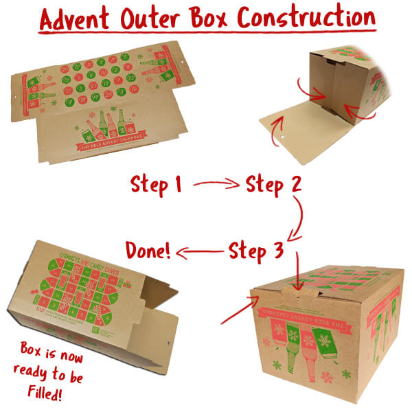 Beer Advent Calendar easy to construct outer box