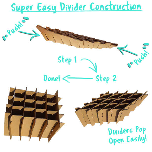 Super Shipper Pre Constructed Divider Assembly