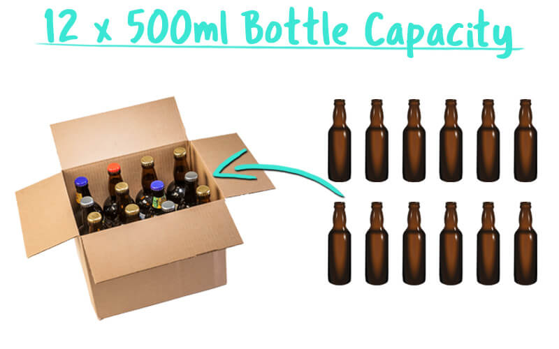 12 x 500ml Beer Bottle Trade Box Capacity