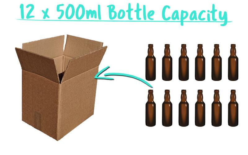 12 x 500ml Tall Beer Bottle Trade Box Capacity