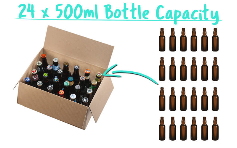 24 x 500ml Beer Bottle Trade Box Capacity