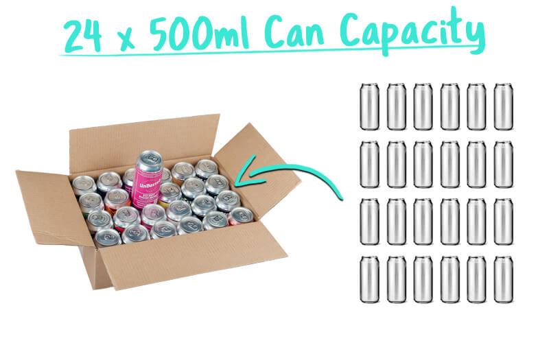 24 x 500ml Beer Can Trade Box Capacity