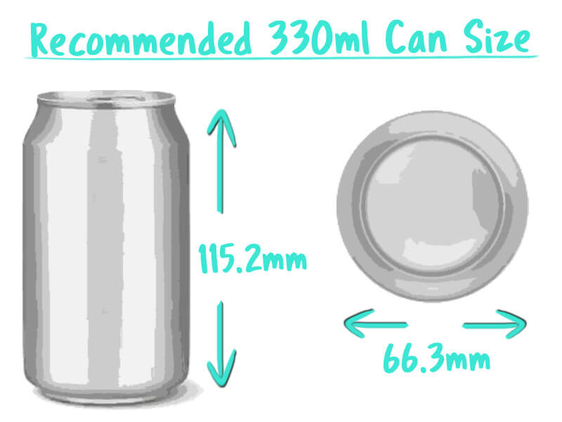 330ml Beer Can Trade Box Size