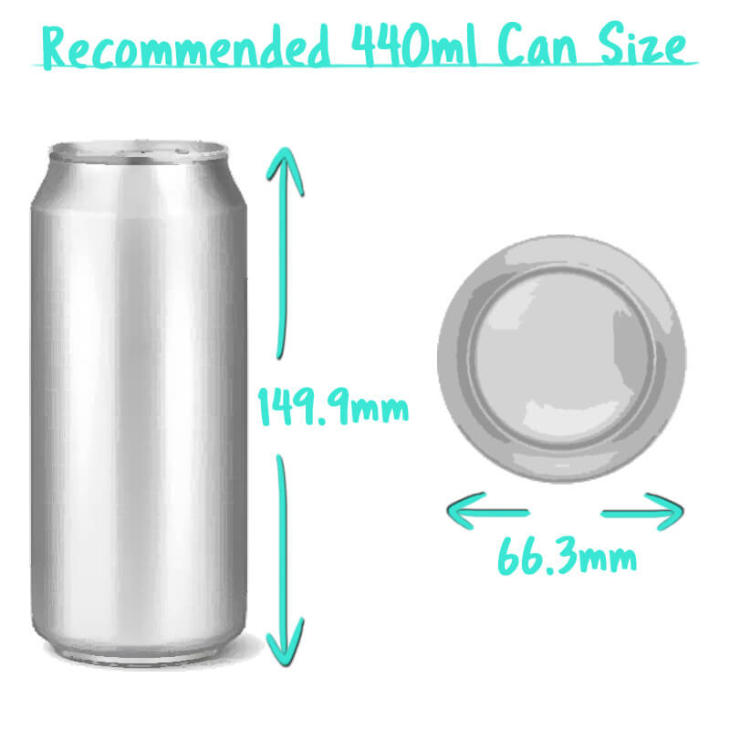 440ml Beer Can Trade Box Size