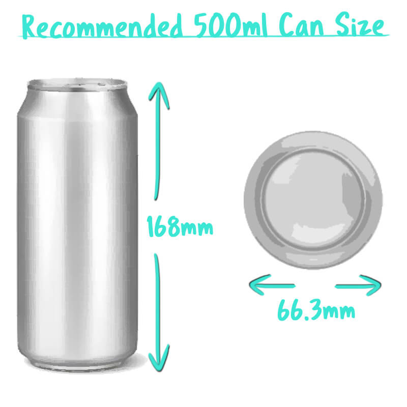 500ml Beer Can Trade Box Size